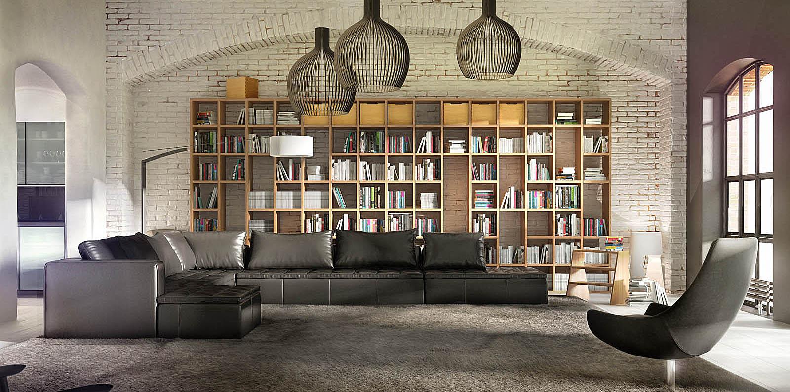 Фотография гостиной в стиле лофт