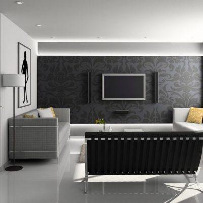Фотография дизайна интерьера гостиной
