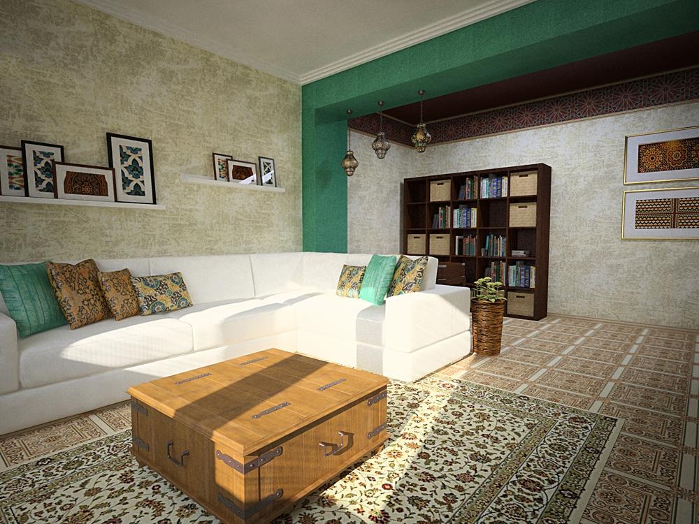 Яркая радость: гостиная в марокканском стиле