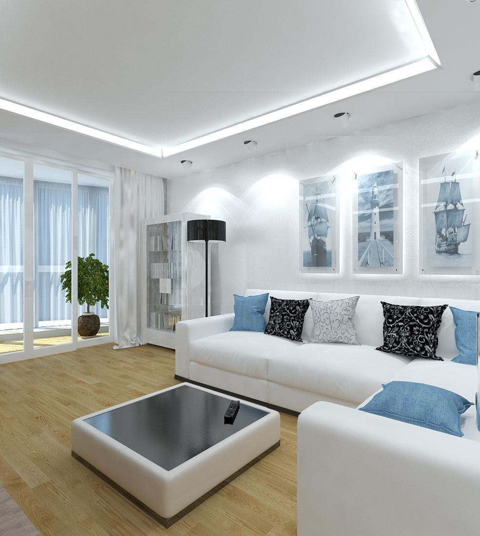 Интересный дизайн гостиной