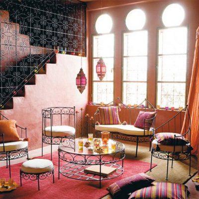 Яркие и красочные шторы в марокканском стиле