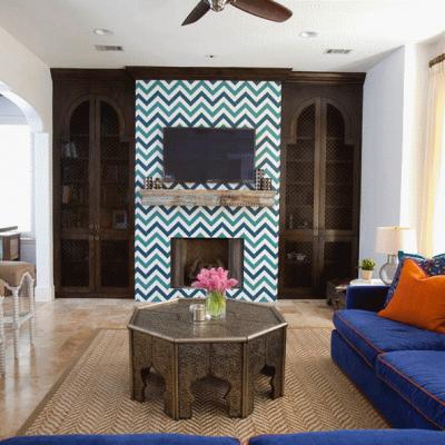 Красивое оформление гостиной в марокканском стиле