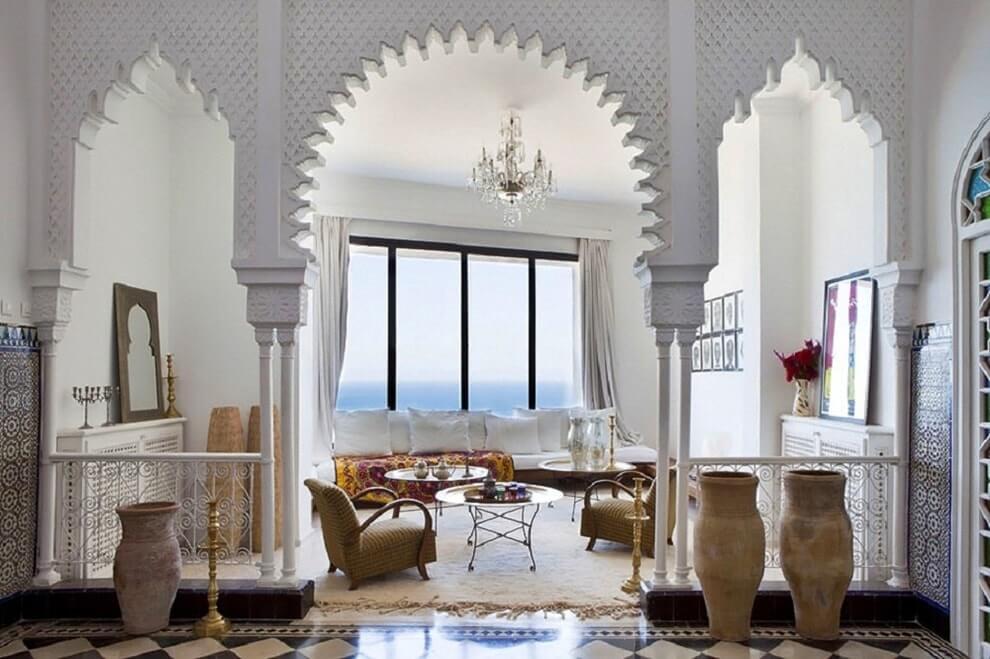 Марокканский стиль в интерьере гостиной комнаты