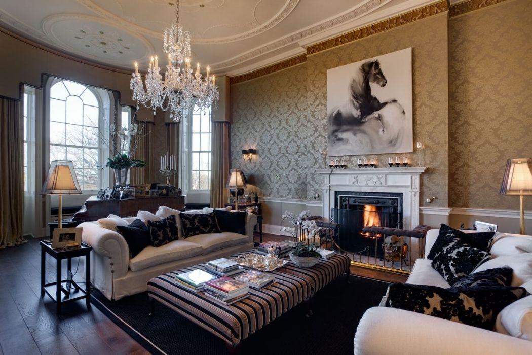 Мебель для гостиной комнаты в классическом английском стиле