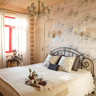 Симпатичное оформление спальни