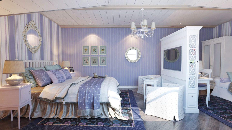Романтичная и уютная спальня в стиле прованс