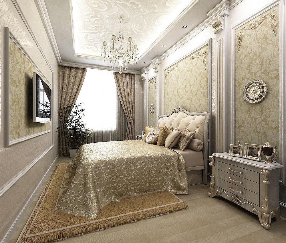 Для тех, кто любит роскошь: спальня в классическом стиле