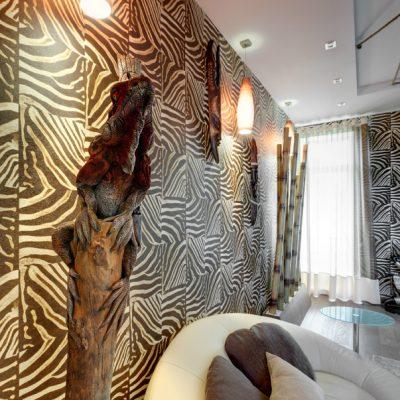 Пример спальни в африканском стиле