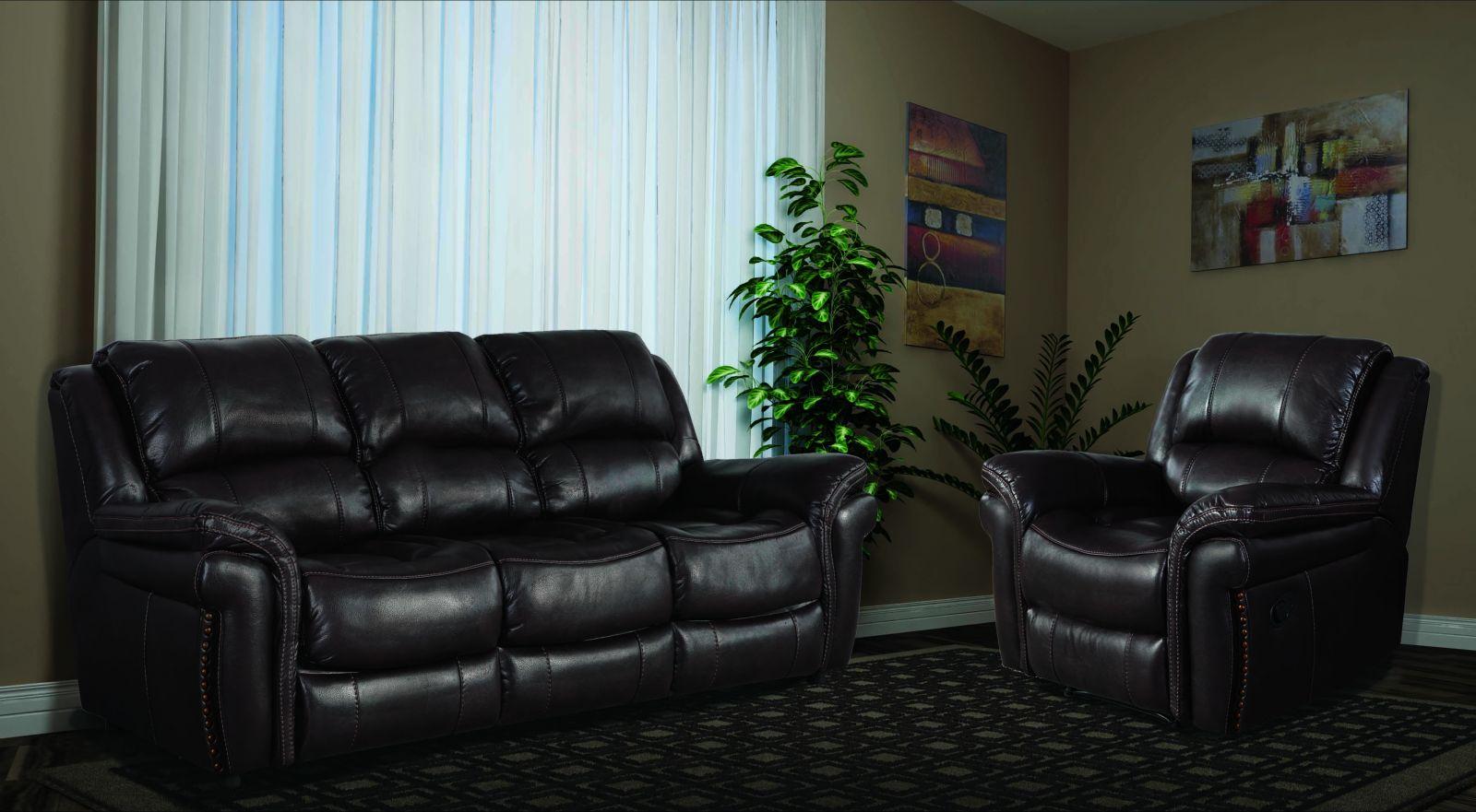 Тёмная мягкая мебель