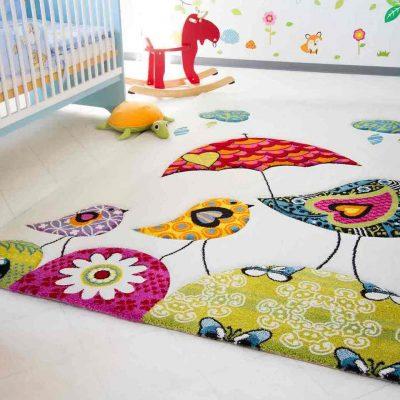 Натуральный ковер в детской комнате