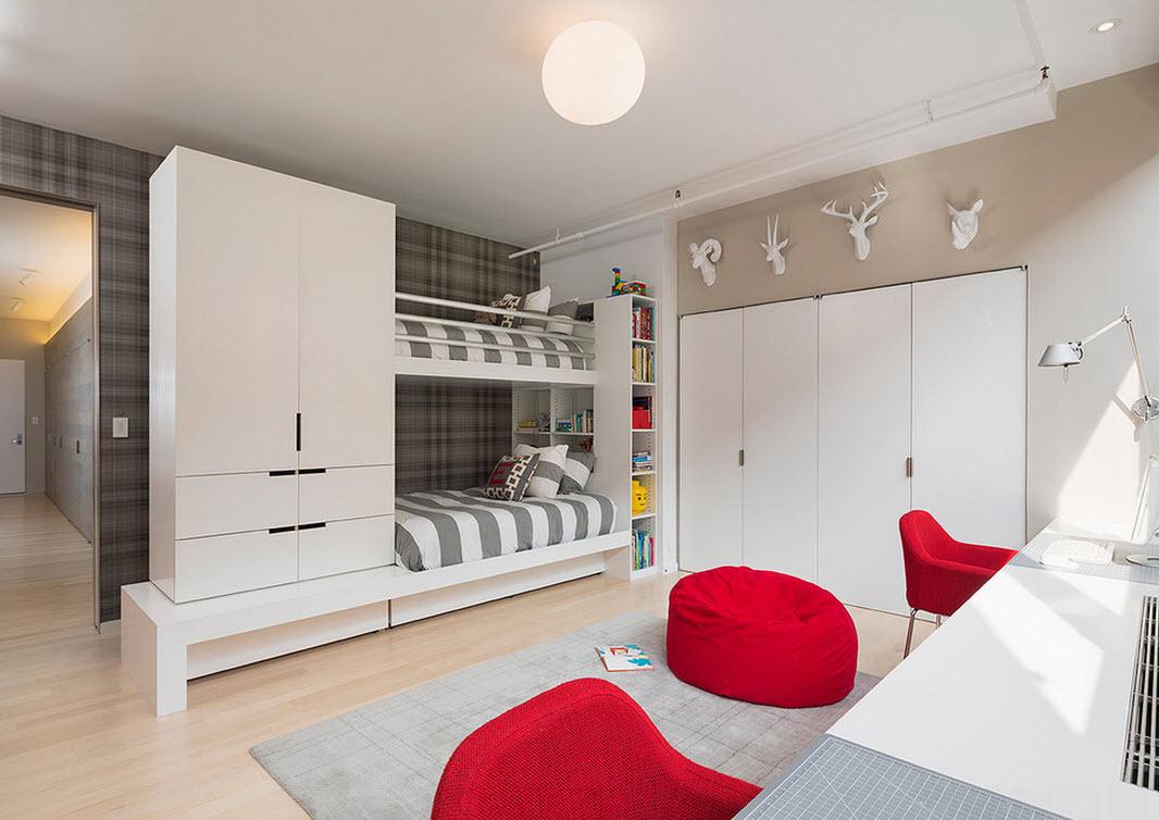 Дизайн детской комнаты в стиле ультрасовременности