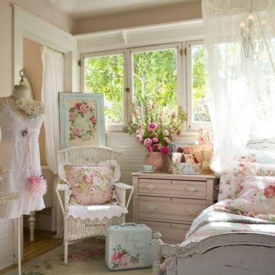 Детская комната в стиле шебби-шик для девочек