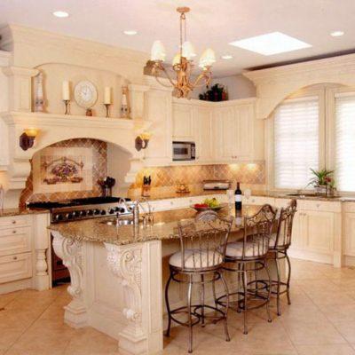 Мебель на кухне в стиле ампир