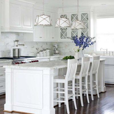 Бело-лазурная кухня в греческом стиле