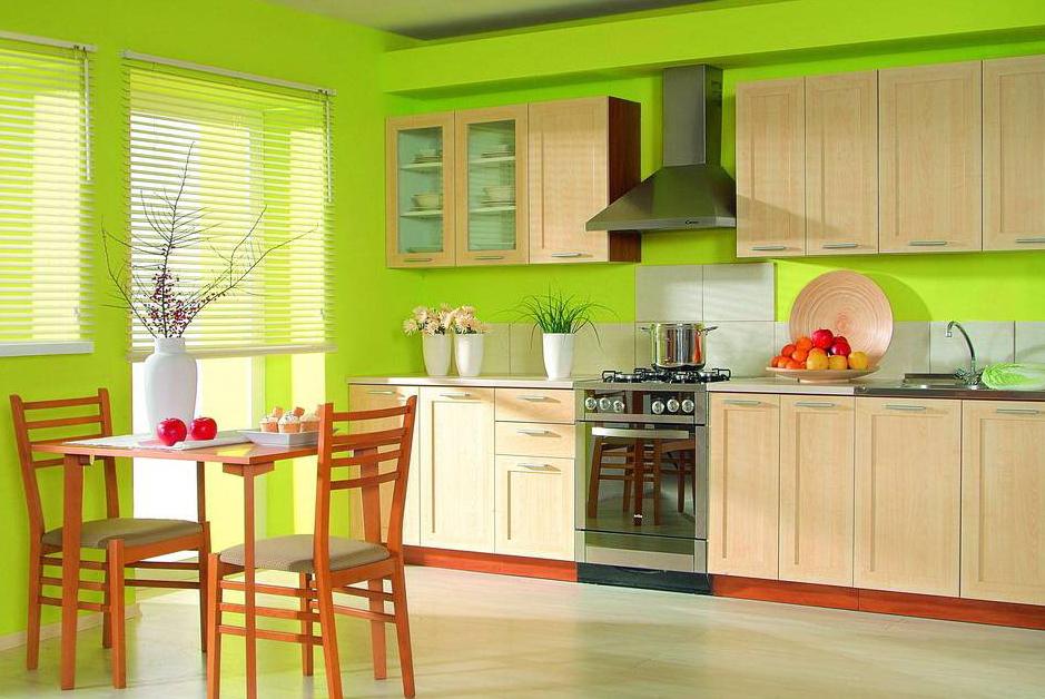 Цвет кухни по фен шуй фото