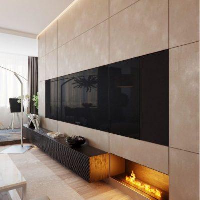 Декор современной гостиной комнаты