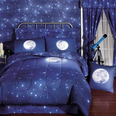 Дизайн комнат космос обои
