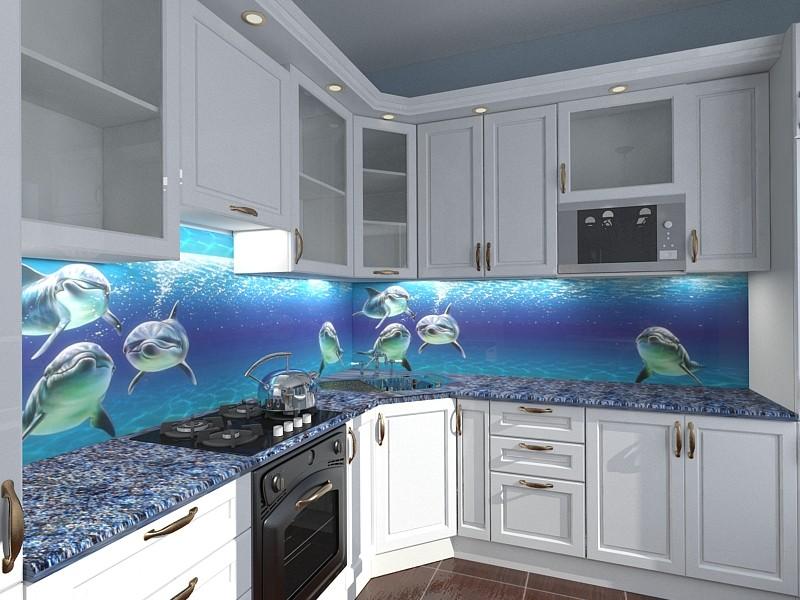 Фото кухни дизайн в морском стиле