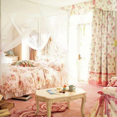 Дизайн спальни в стиле шебби-шик фото