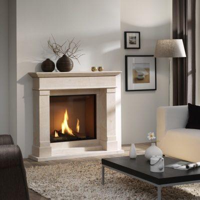 Фото дизайна интерьера гостиной комнаты с камином