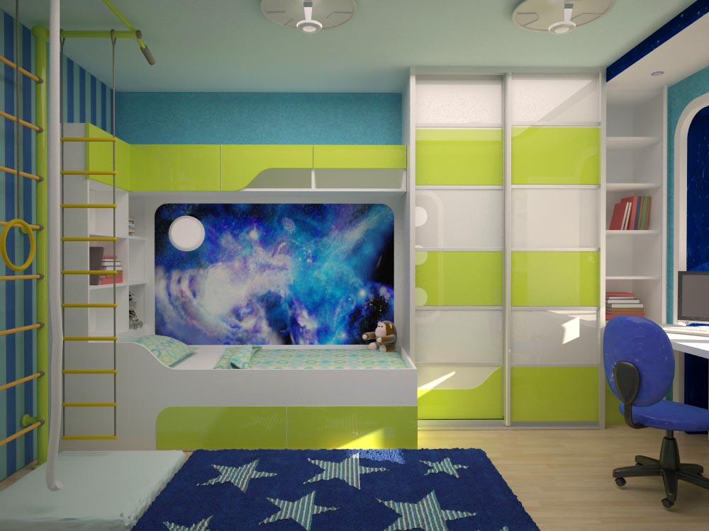 Детская комната для мальчика дизайн фото в 138