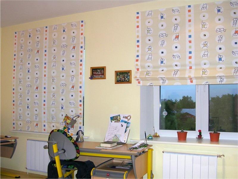 Римские шторы своими руками в детскую комнату 17