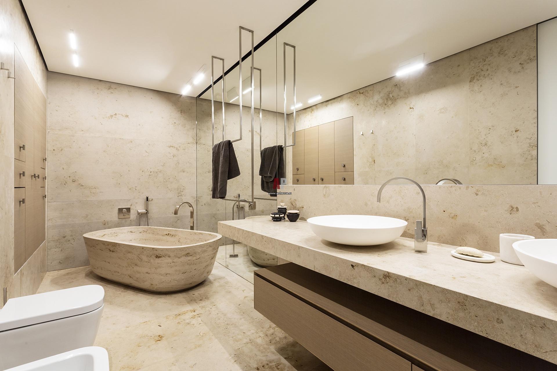 Фото интерьера ванной квартиры