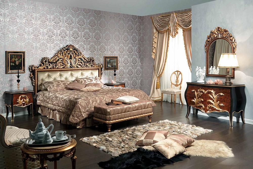 Интерьер спальни в стиле ренессанс фото