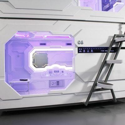 Интересный дизайн спальни в космическом стиле