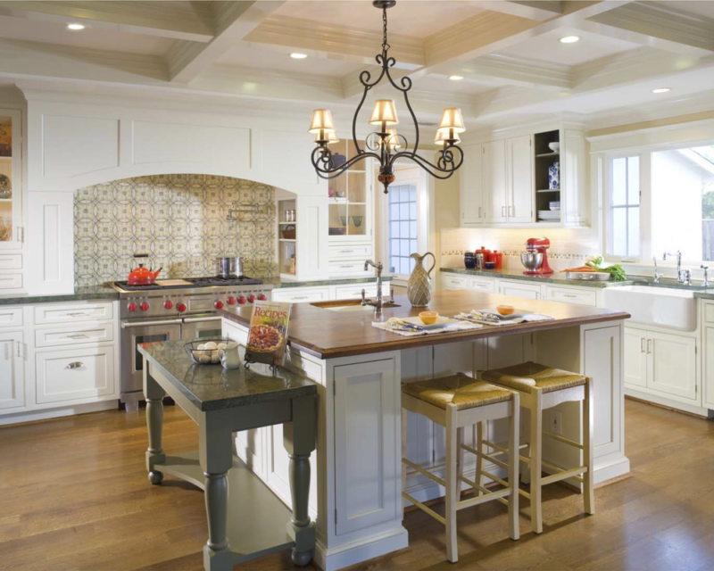 Элементы рококо в интерьере кухни