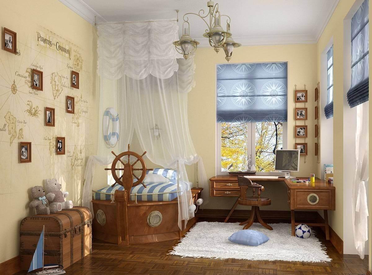 Как оформить детскую комнату в морском стиле