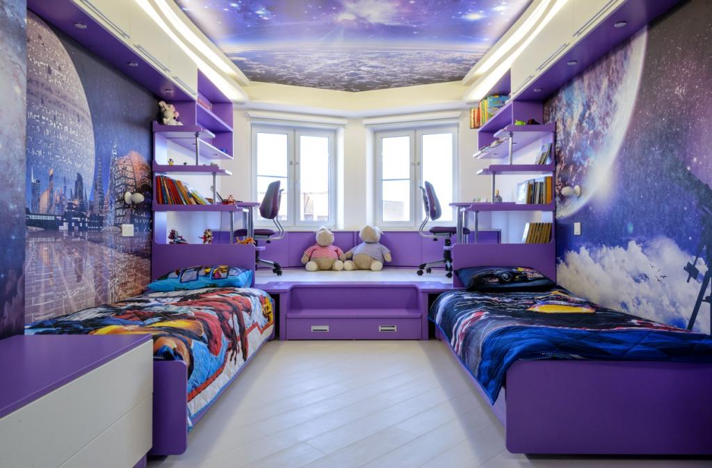 Вселенная в одной квартире: комната в стиле космос