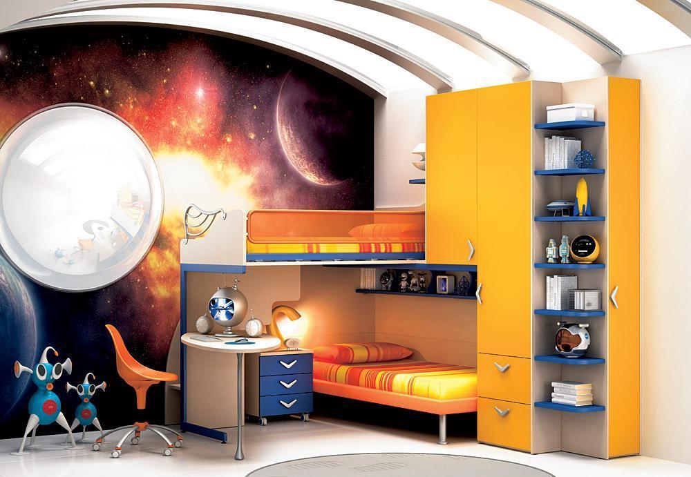 Комната для мальчика в космо стиле
