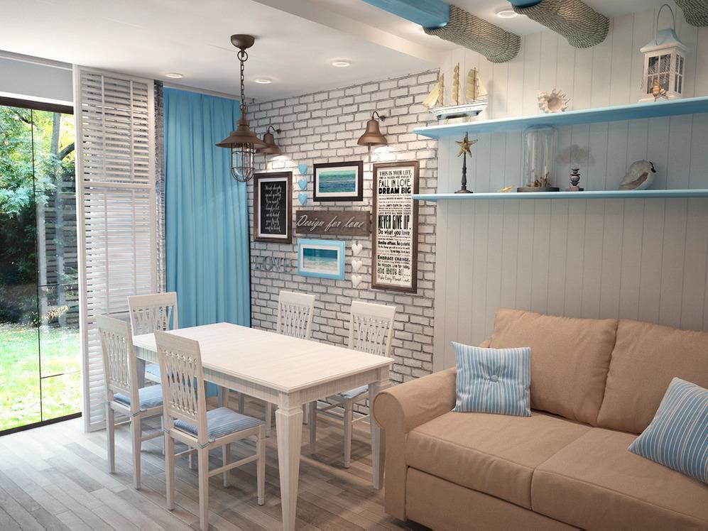 Кухни в морском стиле дизайн фото