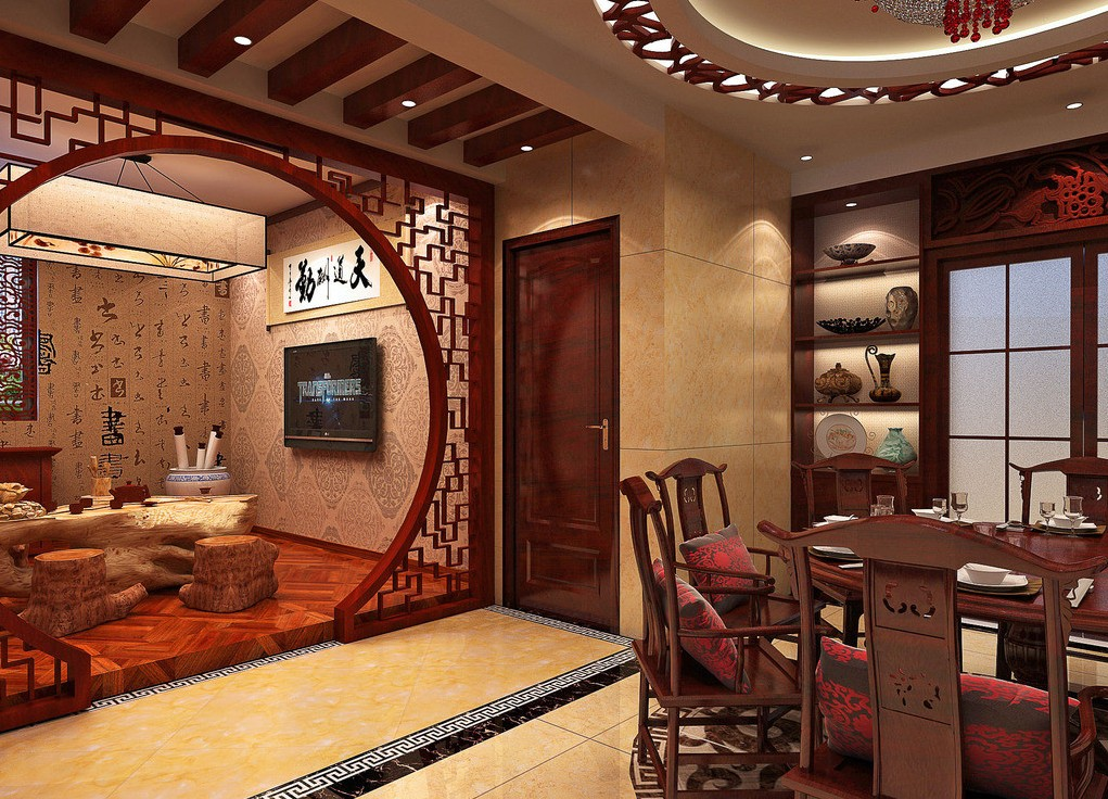 Дизайн интерьера в китайском стиле с