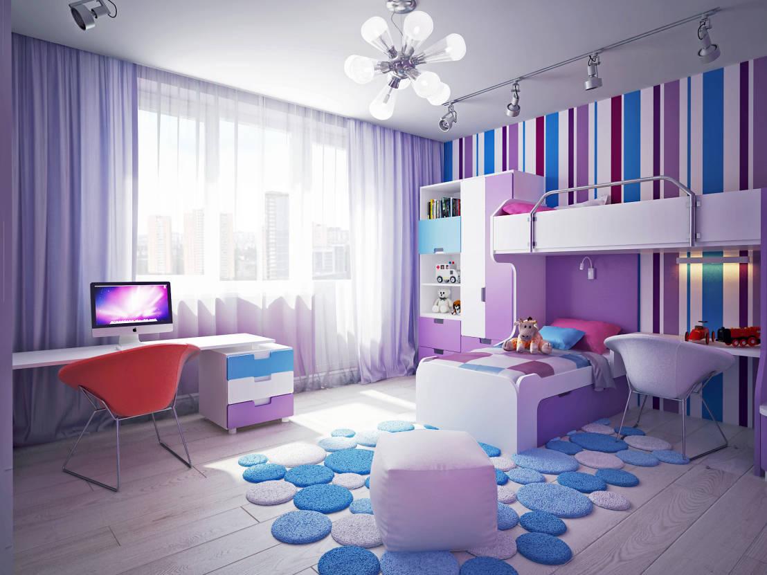 Минимализм в интерьере детской комнаты