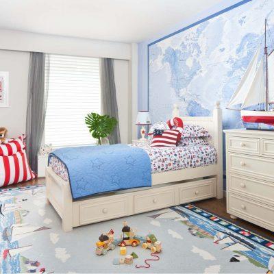 Морская тема в интерьере детской фото