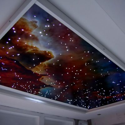 Натяжной потолок звездное небо с подсветкой