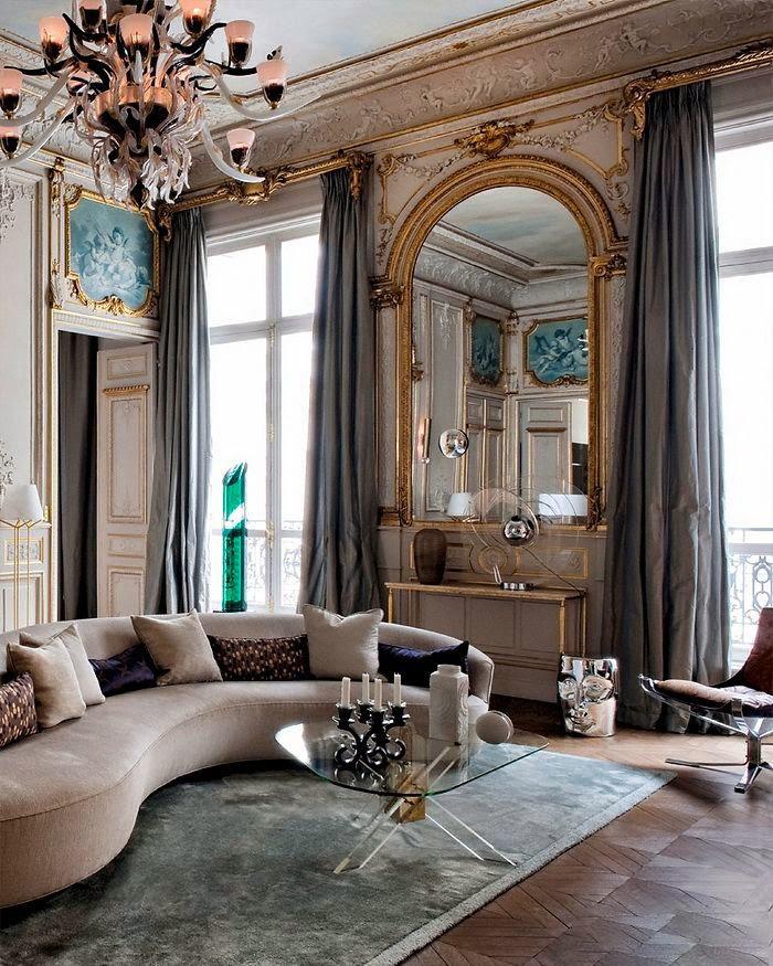 Освещение в интерьере в стиле рококо