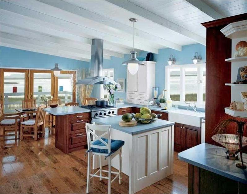 Отделка потолка на кухне