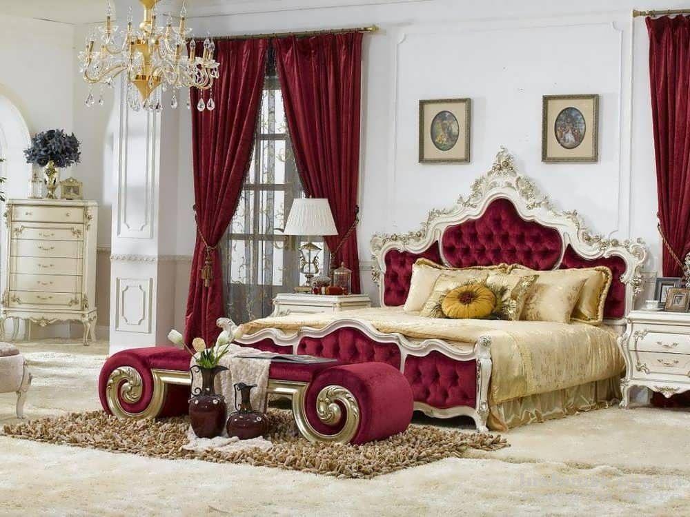 Отделка спальни в стиле ампир