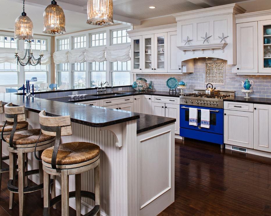 Потолок кухни в морском стиле