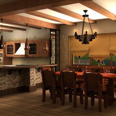Романский стиль оформления кухни