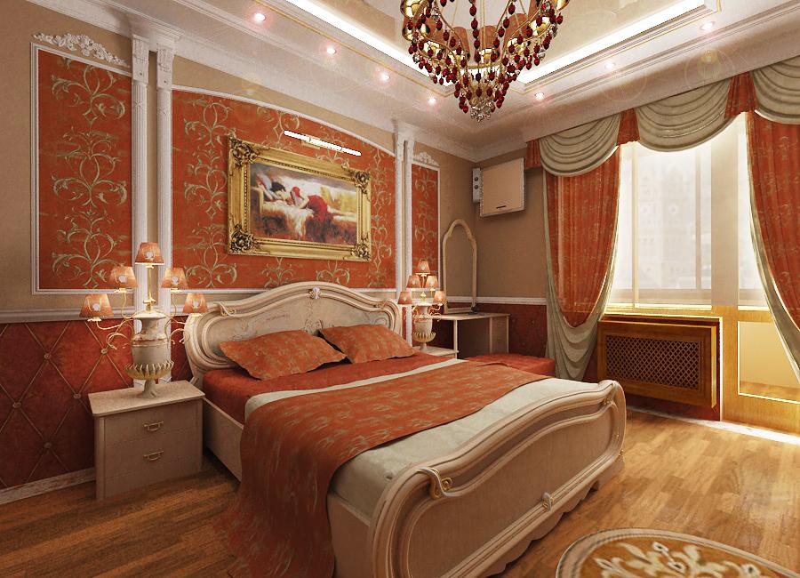 Секреты оформления спальни в стиле ампир