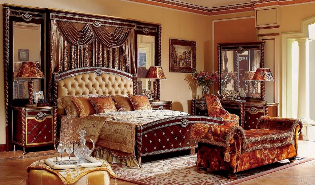 Сдержанная роскошь: спальню в стиле ампир