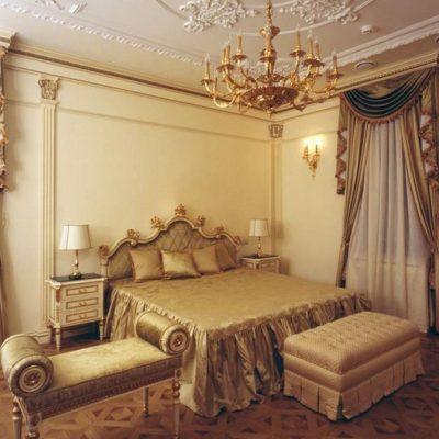 Шторы в стиле ампир для спальни