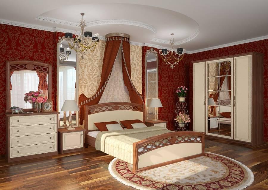 Спальня в историческом оформлении