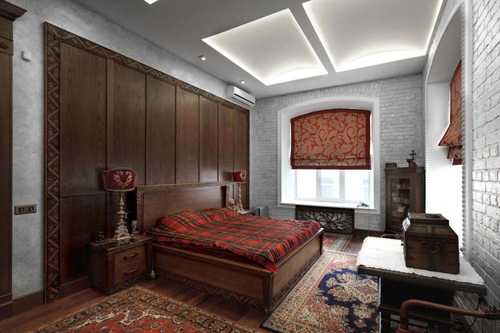 Спальня в русском стиле фото