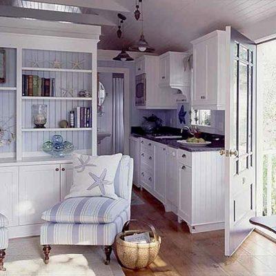 Стены кухонь в морском стиле