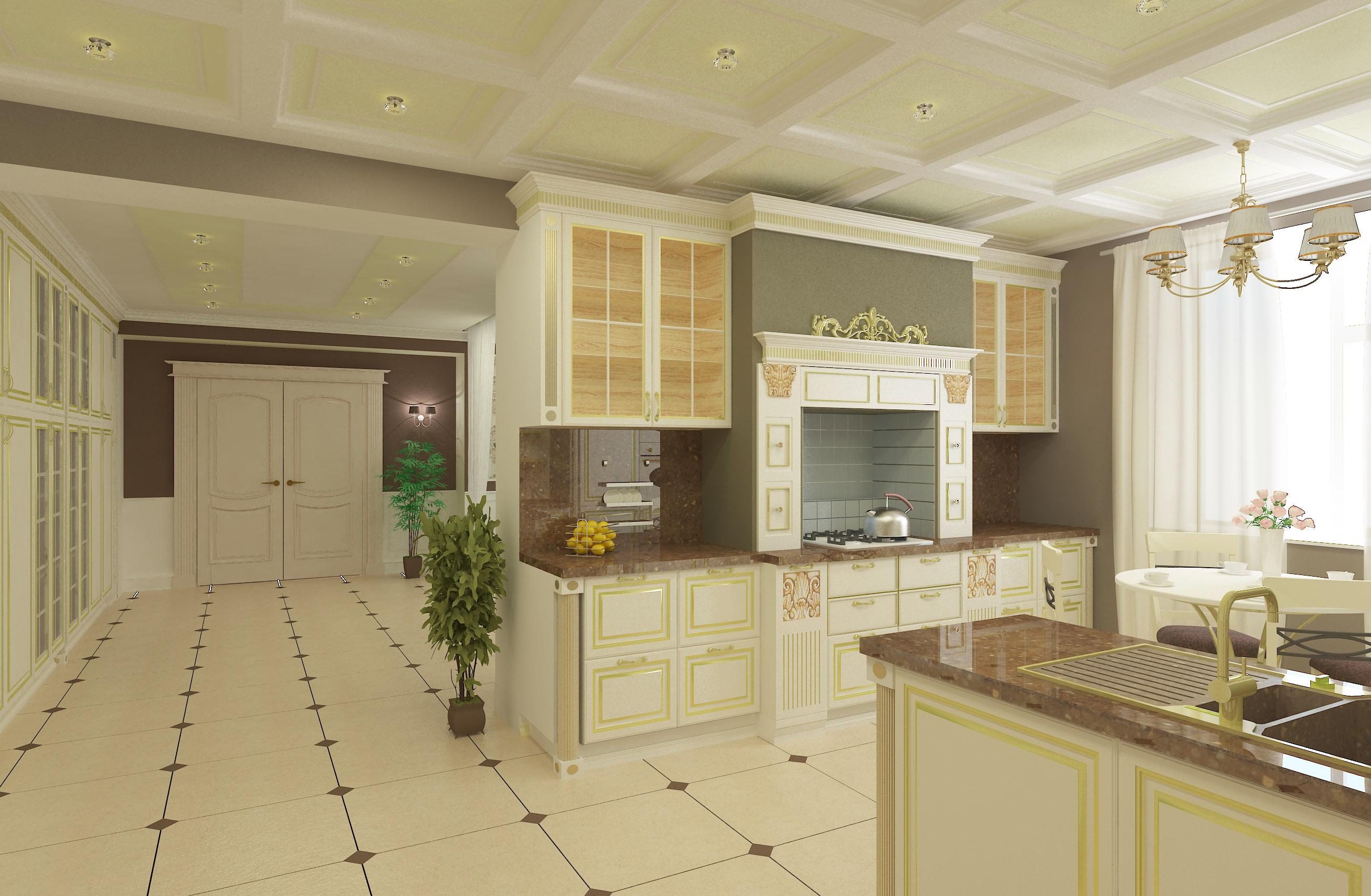 Стильный дизайн проект кухни
